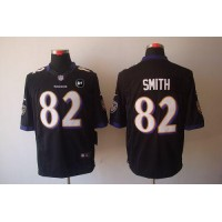 Nike Ravens #82 Torrey Smith Black Alternate With Art Patch Men's Stitched NFL Limited Jersey