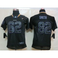 Nike Ravens #82 Torrey Smith Lights Out Black With Art Patch Youth Stitched NFL Elite Jersey