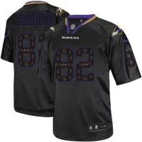 Nike Ravens #82 Torrey Smith New Lights Out Black Men's Stitched NFL Elite Jersey