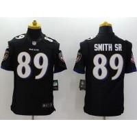 Nike Ravens #89 Steve Smith Sr Black Alternate Men's Stitched NFL New Limited Jersey