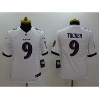 Nike Ravens #9 Justin Tucker White Youth Stitched NFL New Limited Jersey