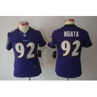 Nike Ravens #92 Haloti Ngata Purple Team Color Women's Stitched NFL Limited Jersey