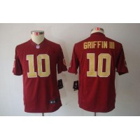 Nike Redskins #10 Robert Griffin III Burgundy Red Alternate Youth Stitched NFL Limited Jersey