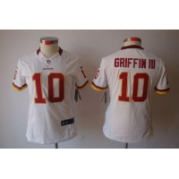 Nike Redskins #10 Robert Griffin III White Women's Stitched NFL Limited Jersey