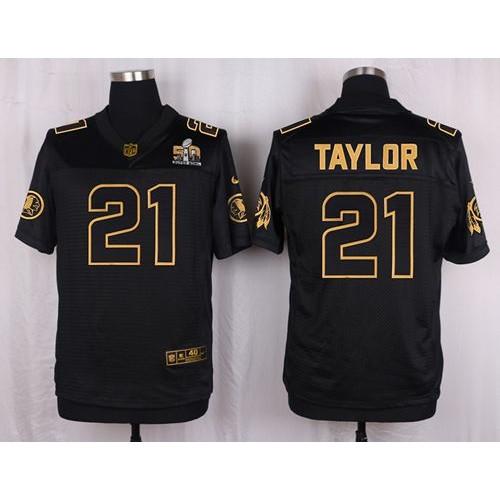 480a7927c Nike Redskins #21 Sean Taylor Black Men's Stitched NFL Elite Pro Line Gold  Collection Jersey