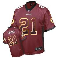 Nike Redskins #21 Sean Taylor Burgundy Red Team Color Men's Stitched NFL Elite Drift Fashion Jersey