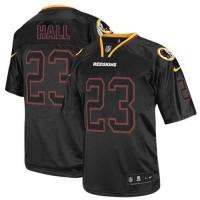 Nike Redskins #23 DeAngelo Hall Lights Out Black Men's Stitched NFL Elite Jersey