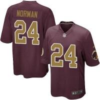 Nike Redskins #24 Josh Norman Burgundy Red Alternate Youth Stitched NFL Elite Jersey