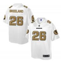 Nike Redskins #26 Bashaud Breeland White Men's NFL Pro Line Fashion Game Jersey