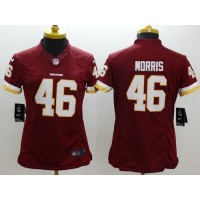 Nike Redskins #46 Alfred Morris Burgundy Red Team Color Women's Stitched NFL Limited Jersey