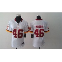 Nike Redskins #46 Alfred Morris White Women's Stitched NFL Elite Jersey