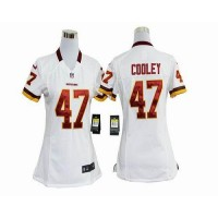 Nike Redskins #47 Chris Cooley White Women's Stitched NFL Elite Jersey