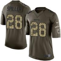 Nike Saints #28 C.J. Spiller Green Men's Stitched NFL Limited Salute to Service Jersey