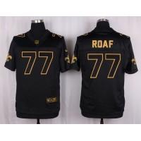 Nike Saints #77 Willie Roaf Black Men's Stitched NFL Elite Pro Line Gold Collection Jersey