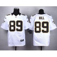 Nike Saints #89 Josh Hill White Men's Stitched NFL Elite Jersey