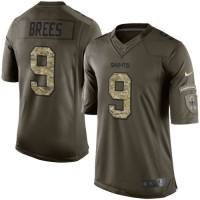 Nike Saints #9 Drew Brees Green Men's Stitched NFL Limited Salute to Service Jersey