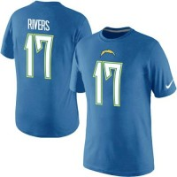 Nike San Diego Chargers #17 Phillip Rivers Pride Name & Number NFL T-Shirt Electric Blue