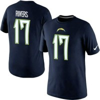 Nike San Diego Chargers #17 Phillip Rivers Pride Name & Number NFL T-Shirt Navy Blue
