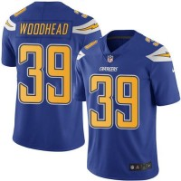 Nike San Diego Chargers #39 Danny Woodhead Electric Blue Men's Stitched NFL Limited Rush Jersey