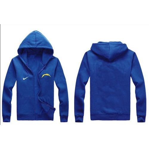 pretty nice 8eed0 1ce98 Nike San Diego Chargers Authentic Logo Hoodie Blue