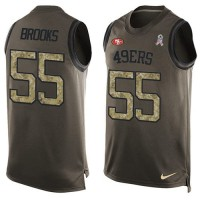 Nike San Francisco 49ers #55 Ahmad Brooks Green Men's Stitched NFL Limited Salute To Service Tank Top Jersey
