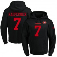 Nike San Francisco 49ers #7 Colin Kaepernick Black Name & Number Pullover NFL Hoodie