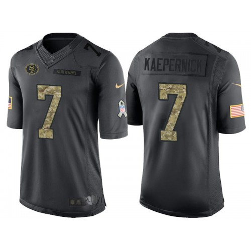 Francisco To San 7 Nfl Nike Colin Jerseys Service Anthracite Limited Salute Kaepernick Men's 49ers Stitched|2019 Fantasy Football Mock Draft