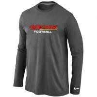Nike San Francisco 49ers Authentic Font Long Sleeve T-Shirt Dark Grey