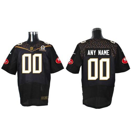 a1e2a9c8d Nike San Francisco 49ers Customized Black 2016 Pro Bowl Men s Stitched NFL  Elite Jersey