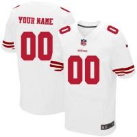 Nike San Francisco 49ers Customized White Stitched Elite Men's NFL Jersey