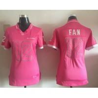Nike Seahawks #12 Fan Pink Women's Stitched NFL Elite Bubble Gum Jersey