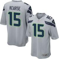 Nike Seahawks #15 Jermaine Kearse Grey Alternate Youth Stitched NFL Elite Jersey