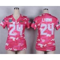 Nike Seahawks #24 Marshawn Lynch Pink Women's Stitched NFL Elite Camo Fashion Jersey