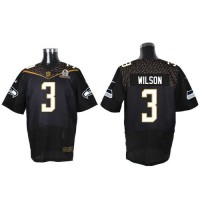 Nike Seahawks #3 Russell Wilson Black 2016 Pro Bowl Men's Stitched NFL Elite Jersey