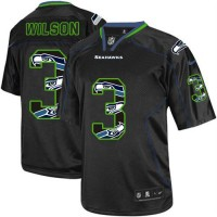 Nike Seahawks #3 Russell Wilson New Lights Out Black Youth Stitched NFL Elite Jersey