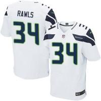 Nike Seahawks #34 Thomas Rawls White Men's Stitched NFL Elite Jersey