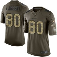 Nike Seahawks #80 Steve Largent Green Men's Stitched NFL Limited Salute to Service Jersey