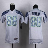 Nike Seahawks #88 Jimmy Graham Grey Alternate Youth Stitched NFL Elite Jersey