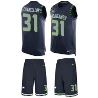 Nike Seattle Seahawks #31 Kam Chancellor Steel Blue Team Color Men's Stitched NFL Limited Tank Top Suit Jersey