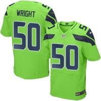Nike Seattle Seahawks #50 K.J. Wright Green Men's Stitched NFL Elite Rush Jersey