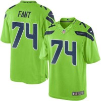 Nike Seattle Seahawks #74 George Fant Green Men's Stitched NFL Limited Rush Jersey