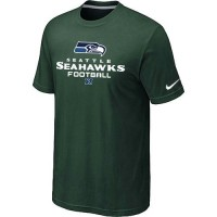 Nike Seattle Seahawks Big & Tall Critical Victory NFL T-Shirt Dark Green