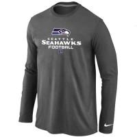 Nike Seattle Seahawks Critical Victory Long Sleeve T-Shirt Dark Grey