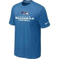 Nike Seattle Seahawks Critical Victory NFL T-Shirt Light Blue