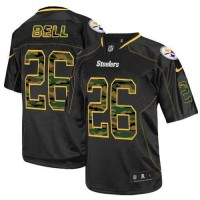 Nike Steelers #26 Le'Veon Bell Black Men's Stitched NFL Elite Camo Fashion Jersey