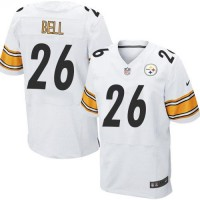 Nike Steelers #26 Le'Veon Bell White Men's Stitched NFL Elite Jersey