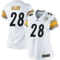 Nike Steelers #28 Cortez Allen White Women's Stitched NFL Elite Jersey
