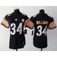 Nike Steelers #34 DeAngelo Williams Black Team Color Women's Stitched NFL Elite Jersey