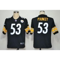 Nike Steelers #53 Maurkice Pouncey Black Team Color Men's Stitched NFL Game Jersey
