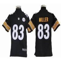 Nike Steelers #83 Heath Miller Black Team Color Youth Stitched NFL Elite Jersey